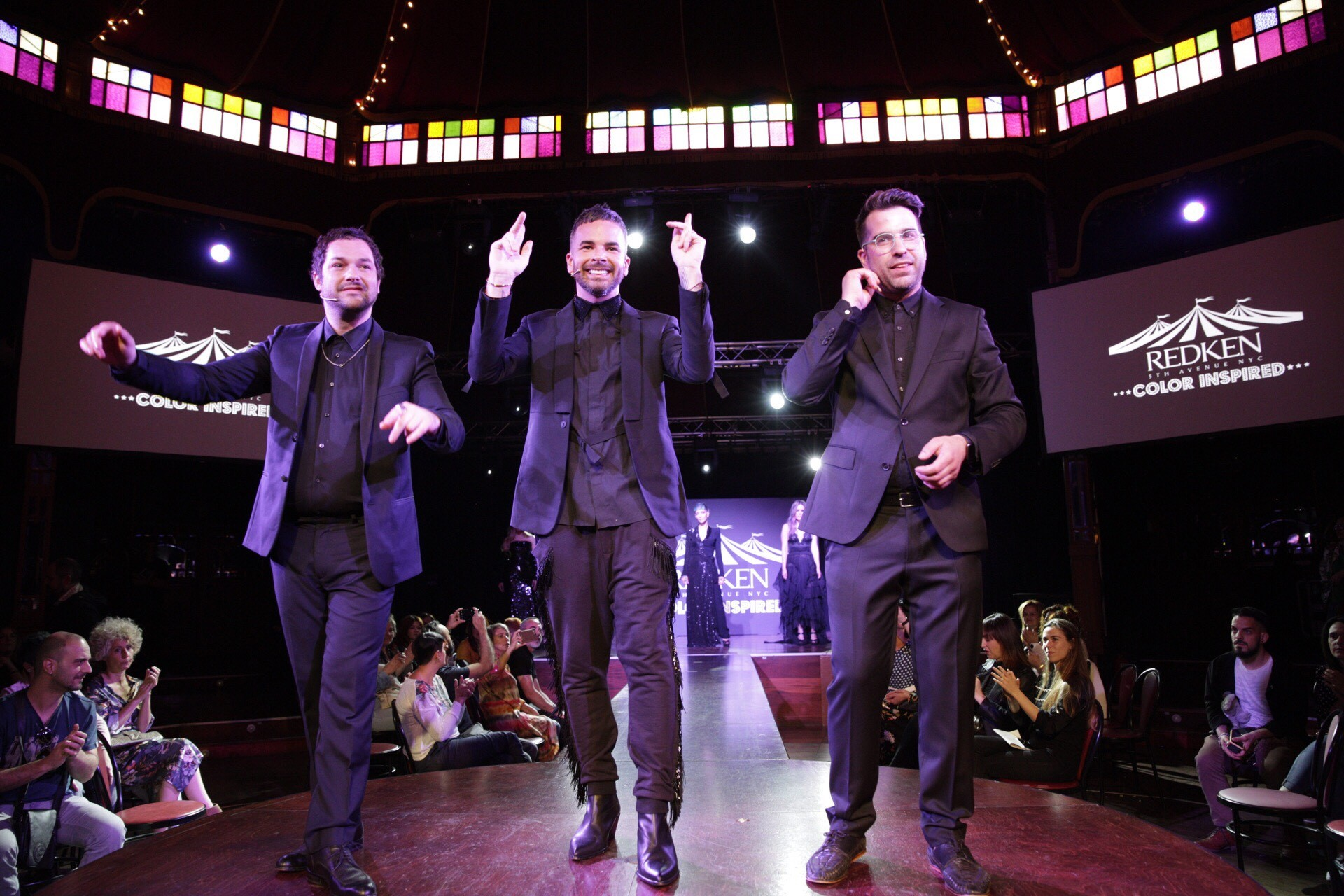 De izquierda a derecha: Iñaki Alonso, Sean Godard y David Sillue durante el show.
