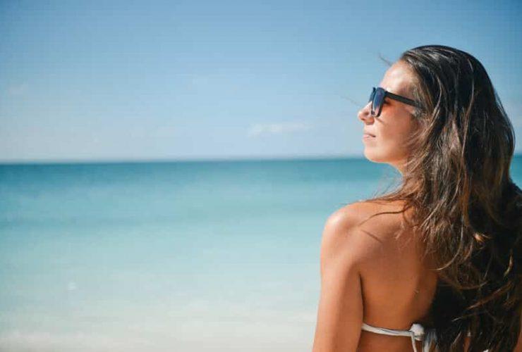 Canva Woman Standing on Seashore 1