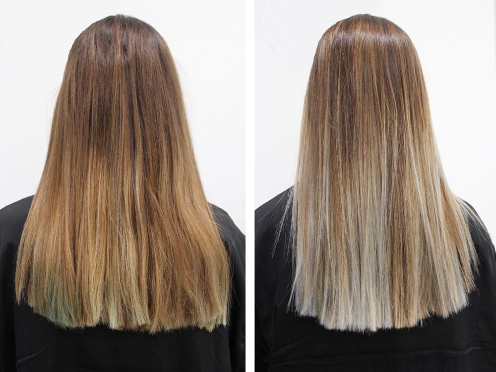 Esther Palma Comunicacion mechas californianas granny hair alma luzon estilista cabello peluqueria madrid Antes Despues
