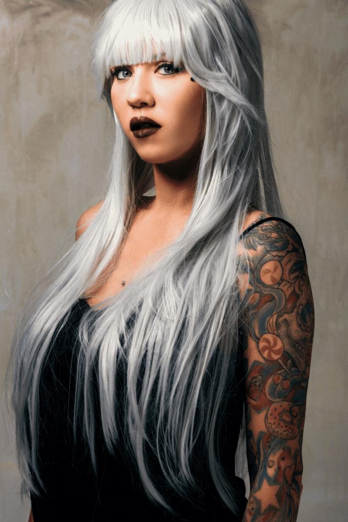 Mujer pelo gris