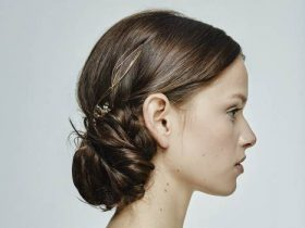 peinados con moños